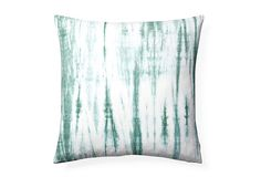 Tie-Dye 20x20 Cotton Pillow, Green on OneKingsLane.com