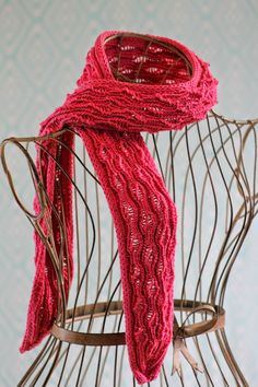 Vertical Drop-Stitch Scarf Balls to the Walls Knits, A collection of free one- and two- skein knitting patterns