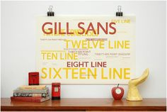 One of my favourite fonts in such a lovely display.