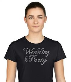 Rhinestone wedding party design. This one using clear rhinestones. If you are having a wedding make sure to grab these designs. We can even customize them for you.  #wedding #rhinestone