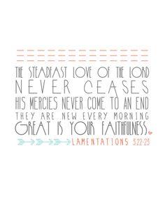 Beth Moore SSMT -January 1st. Lamentations 3.22-23