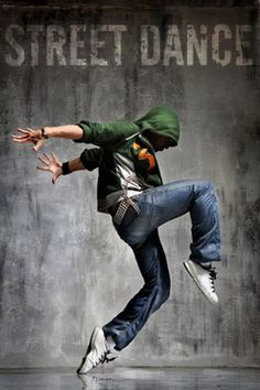 Street Dance - is an umbrella term, similar to vernacular (lingo) dance, used to describe dance styles that evolved outside of dance studios at more everyday spaces; ie. streets, school yards and nightclubs.  They're often improvisational and social in nature, encouraging interaction with the spectators and other dancers.