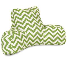 Majestic Home Goods 85907223027 Sage Chevron Reading Pillow