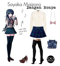"""Sayaka Maizono Closplay - Dangan Ronpa (DR)"" by closplaying ❤ liked on Polyvore…"