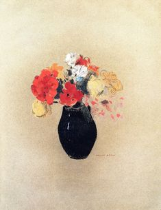 Flowers in a Vase Odilon Redon - Date unknown