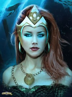FAN-ART: Here's What Amber Heard Might Look Like As 'Mera' In AQUAMAN