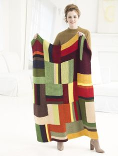Directional Color Afghan