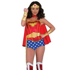 #Trendy Halloween - #Rubies Wonder Woman Adult Accessory Set - AdoreWe.com  sc 1 st  Pinterest & Rubies Fancy Dress Wonder Woman Costume - Size 10-12 Who says that ...