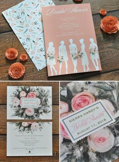 Rustic pink bridal shower invitations from Invitations by Dawn. http://www.invitationsbydawn.com/Wedding-Stationery/Bridal-Shower-Invitations/index.cat