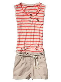caf02d538623 All-in-one suit with jersey tank top and woven shorts - Dresses    All-in-ones - Official Scotch   Soda Online Fashion   Apparel Shops