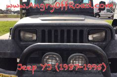 Jeep Wrangler 1995, Wrangler Truck, Jeep Wrangler Interior, Jeep Wj, Jeep Wrangler Accessories, Jeep Accessories, Jeep Tire Cover, Angry Eyes, Headlight Covers