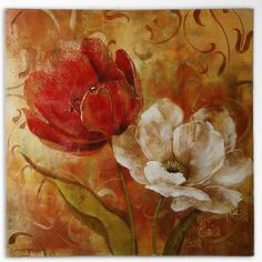 """Found it at Wayfair - """"Flower Duet II"""" by Carol Robinson Painting Print on Wrapped Canvas"""