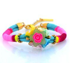 Bold coloured bracelet www.nizhoni.es  #boho #style #ibiza #bracelet #spring2014