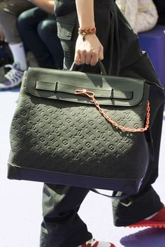 See Virgil Abloh's First Collection of Sneakers and Accessories for Louis Vuitton Louis Vuitton Men's Spring Summer 2019 Sneakers Sunglasses Bags Accessories - Fashionista Louis Vuitton Handbags, Fashion Handbags, Purses And Handbags, Fashion Bags, Paris Fashion, Hermes Handbags, Sacs Design, Vuitton Bag, Luxury Bags