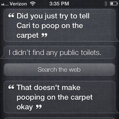 Funny Siri Conversations – I Can't Get Behind That