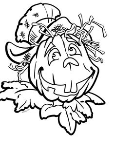 I have download Halloween Pumpkin That Is Old And Scary Coloring Page