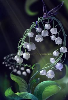 Lily of the valley by on DeviantArt Lily Of The Valley Bouquet, Nature Wallpaper, Lilies, Spring Flowers, Flower Art, Planting Flowers, Beautiful Flowers, Scenery, Trees