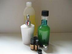 Homemade Dandruff Shampoo - castile soap, tea tree oil,  rosemary EO.and lavender EO.