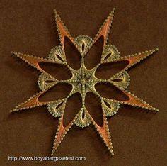 Filografi Nedir Arte Linear, Nail String Art, Mandala Pattern, Art Model, Fall Crafts, Quilling, Geometry, Mosaic, Brooch