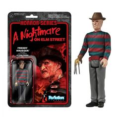 Get your very own retro action figure from A Nightmare on Elm Street! This Nightmare on Elm Street Freddy Krueger ReAction Retro Action Figure features the evil and burned murderer who dwells within d