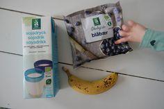 Blåbær/banan smoothie med lakrids og kardemomme