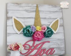 Excited to share the latest addition to my #etsy shop: Unicorn themed letters, Unicorn Nursery, Unicorn room decor, Unicorn nursery decor, Unicorn decor, Unicorn wood sign, Shabby chic nursery https://etsy.me/2rS5yl9