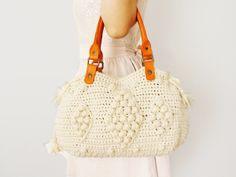 BAG // Beige Shoulder Bag Celebrity Style With by Sudrishta, $99.00