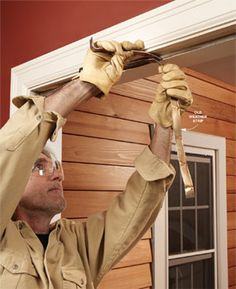 Replace weather stripping around exterior doors and window frames to increase your home's energy efficiency.