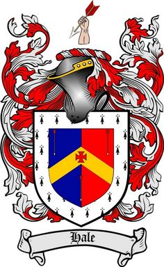 HALE FAMILY CREST - COAT OF ARMS gifts at www.4crests.com