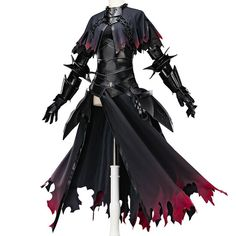 Fate/Grand Order Ruler Avenger Black Jeanne d'Arc Alter Cosplay Costume Women Cosplay Outfits, Anime Outfits, Cool Outfits, Fashion Outfits, Weapon Concept Art, Armor Concept, Fantasy Character Design, Character Design Inspiration, Character Creation