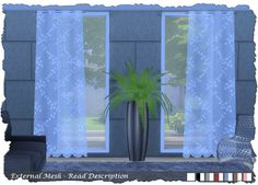 Sims 4 CC's - The Best: Curtains by Pixelshrine