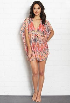 Blurred Lines Kaftan Cover Up | FOREVER21 - 2000070535