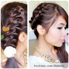 How to Crochet French Braid  tutorial on YouTube.com