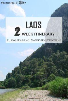 A 2 week itinerary for Luang Prabang, Vang Vieng and Vientiane in Laos… Vientiane, Luang Prabang, Laos Travel, Thailand Travel, Asia Travel, Bangkok, Laos Vietnam, Travel 2017, Travel Tips