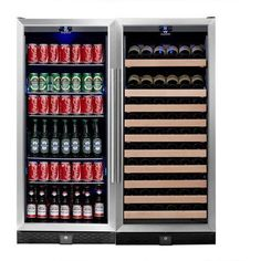 Kingsbottle 106 bottle, 300 can wine and beverage coolers combo. This brilliant design gives you a dual cooling system that will let you store all of your beverage needs in one area, wine, spirits, be