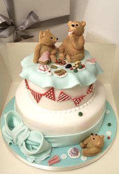 Teddy Bears Picnic two tier cake