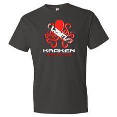 This is a classic tee that has a light feel. Made of 100% ringspun cotton (except for heather colors, which contain 10% polyester). | krakenaquatics.com
