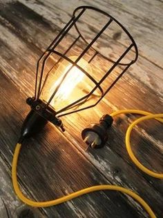Black Wire Industrial Pendant Light Cage