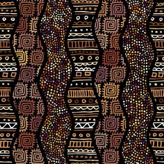 Find Ethnic Boho Seamless Pattern African Style stock images in HD and millions of other royalty-free stock photos, illustrations and vectors in the Shutterstock collection. Thousands of new, high-quality pictures added every day. Tribal Pattern Art, African Tribal Patterns, Textile Pattern Design, Ethnic Patterns, Art Patterns, Tribal Prints, Tribal Art, African Art Projects, African Paintings