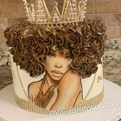 Diva Cupcakes, Cupcake Cakes, Beautiful Cakes, Amazing Cakes, Birthday Cakes For Women, Diva Birthday Cakes, Birthday Ideas, Birthday Cake With Photo, 23rd Birthday