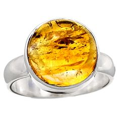 Citrine 925 Sterling Silver Ring Jewelry s.7 CTCR307