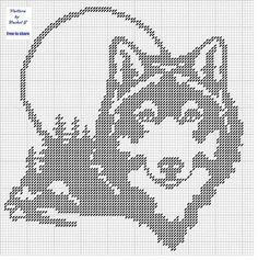 wolves for plastic canvas Filet Crochet Charts, Cross Stitch Charts, Cross Stitch Designs, Cross Stitch Patterns, Stitching Patterns, Plastic Canvas Crafts, Plastic Canvas Patterns, Cross Stitching, Cross Stitch Embroidery