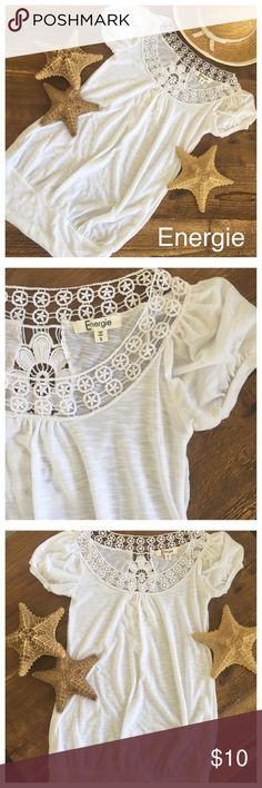 Energie dress, tunic, shirt beachy & sexy💋NWOT Brand new without tags this dress, tunic, shirt is absolutely GORGEOUS! Solid cotton white with intricate Embroidery. Listed with tags because when I ordered it the top arrived in plastic bag with no tag. Energie Tops Tunics