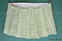 Refashion Tutorial: Make a box pleated skirt from jeans and sheets