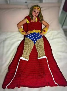 ******Pattern Only***** Not Physical Item***** Wonder Woman Crochet Blanket Patterns. PDF file available immediately after purchase. Three Sizes included: Small Child, Child, and Adult. Pattern considered consumed after purchase. NO REFUNDS