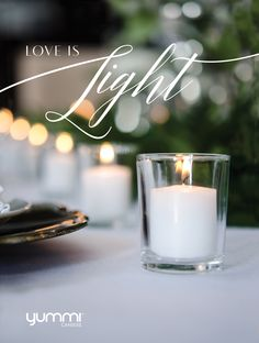 Love is Light <3  Get 72 Votive & Holder Centerpieces for $20