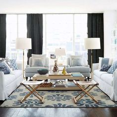 arredamento bianco e blu estate 2016 - soggiorno accogliente | x2f ... - Soggiorno Bianco E Blu