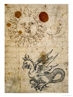 "Albrecht Dürer ""The sun, the moon and a basilisc"""