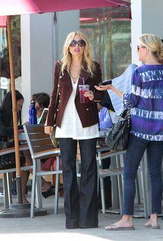 Rachel Zoe Photos Photos: Rachel Zoe at Coffee Bean Rachel Zoe Hair, Maroon Blazer, Denim Blog, Chic Outfits, Fashion Outfits, Spring Outfits, Denim Fashion, Women's Fashion, Fashion Ideas