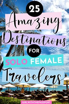 25 Amazing Destinations for Solo Female Travelers! - Gracie Gallagher - 25 Amazing Destinations for Solo Female Travelers! Solo Travel Europe, Solo Travel Tips, Asia Travel, Travel Usa, Disney Travel, Travel Expert, Florida Travel, Beach Travel, Travel Packing